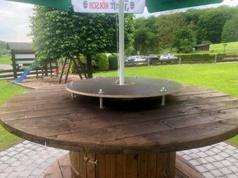 Luedenbach Biergarten Tisch Stehtisch Vatertag Tour