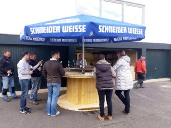 Luedenbach Biergarten Tisch Stehtisch Vatertag Tour Einweihung