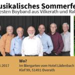 Musikalischer Sommernachmittag am Sonntag, 27.08.2017