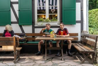 Rennrad Fahren Bergisches Land Luedenbach Restaurant Hotel Rennrad Tour Oberberg 10
